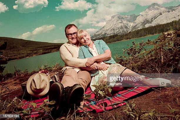 romantic picnic at the lake - copulation of humans stock photos and pictures