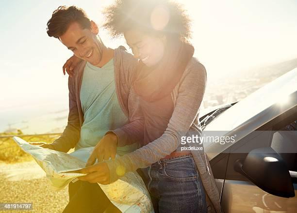 Romantique en voiture: Décider où aller.