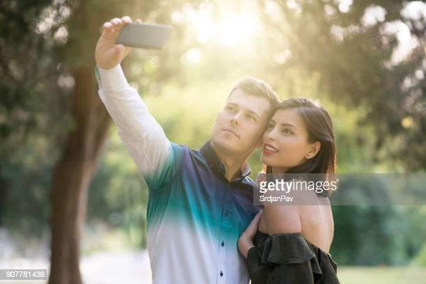 Romantische Selfie
