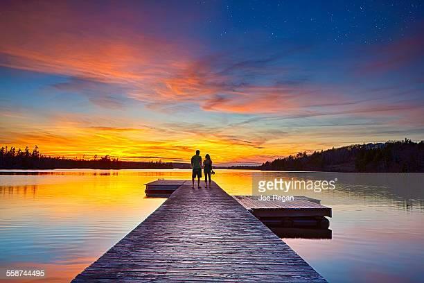 romantic sky. - halifax nova scotia stock pictures, royalty-free photos & images