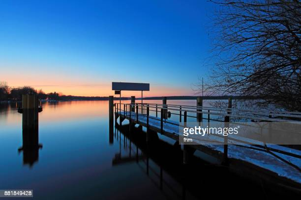 Romantic sunset at lake Wannsee in Berlin (Germany)