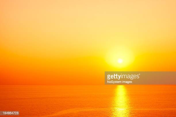 romantic sunset - thasos stock photos and pictures