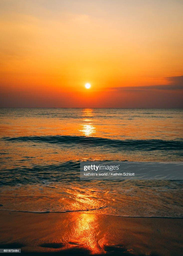 Romantic sunset : Stock Photo