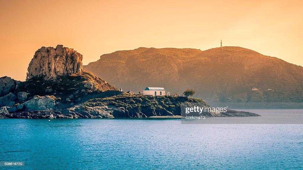 Romantic wedding on greek island : Stock Photo