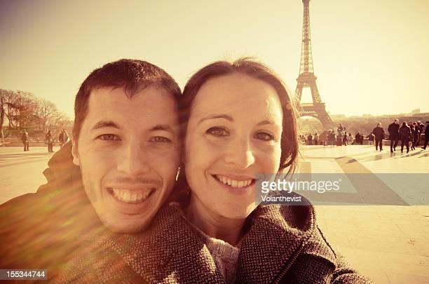 Romantic young couple portrait