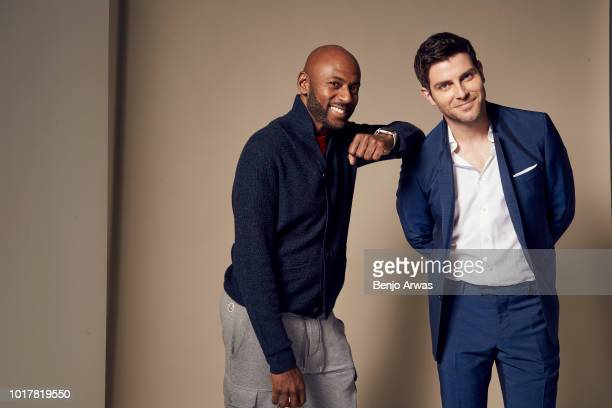 Romany Malco and David Giuntoli of ABC's 'A Million Little Things' pose for a portrait during the 2018 Summer Television Critics Association Press...