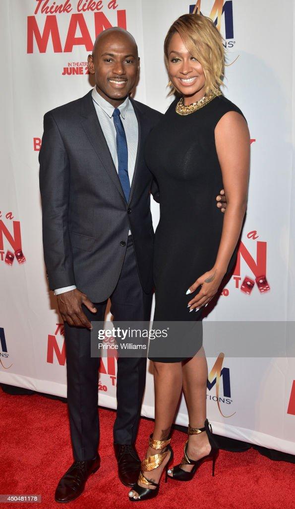Romany Malco and La La Anthony attend the 'Think Like A Man Too' premiere at Regal Cinemas Atlantic Station Stadium 16 on June 11, 2014 in Atlanta, Georgia.