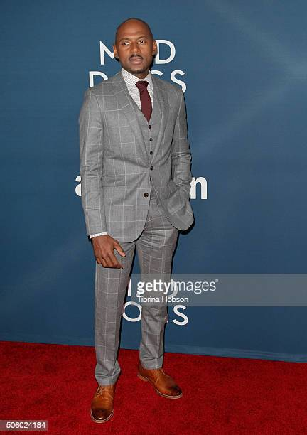 Romany Malco attends the premiere of Amazon's 'Mad Dogs' at SilverScreen Theater at the Pacific Design Center on January 20, 2016 in West Hollywood,...