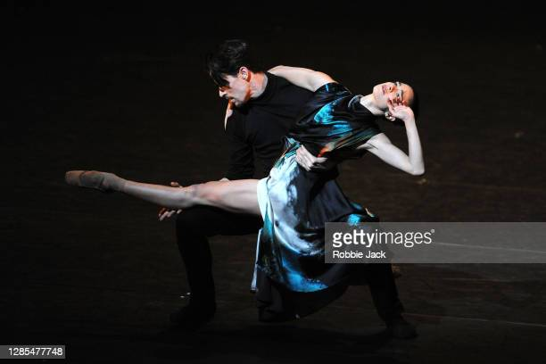 Romany Pajdak and Calvin Richardson in The Royal Ballet's production of Cathy Marston's In Our Wishes at The Royal Opera House on November 12, 2020...