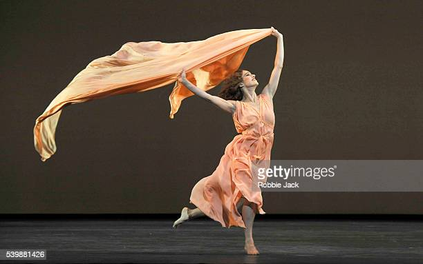 Romany Pajdak in the Royal Ballet's production of Frederick Ashton's Five Brahms Waltzes In The Manner of Isadora Duncan at the Royal Opera House...