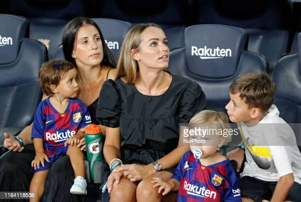 Romarey Ventura girlfriend of Jordi Alba during the match between FC Barcelona and Real Betis Balompie corresponding to the week 2 of the Liga...
