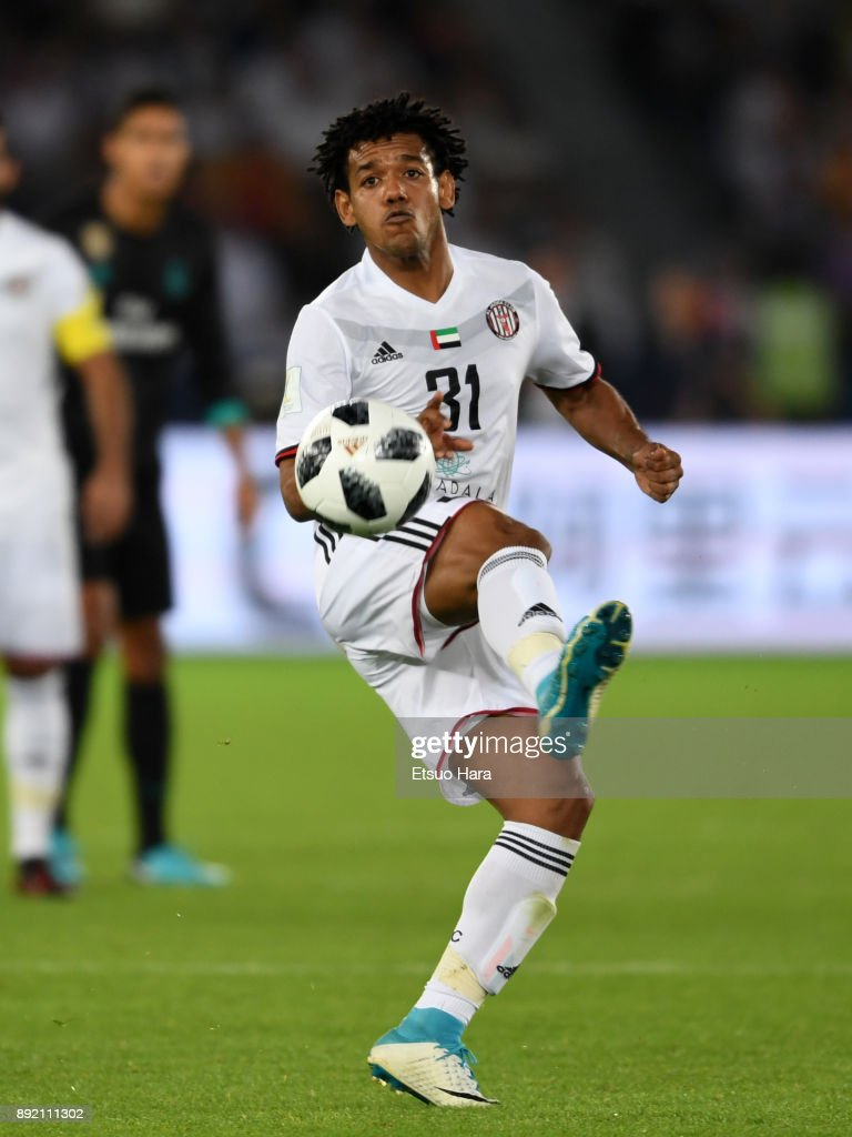 Romarinho of Al Jazira in action during the FIFA Club World Cup UAE 2017 semi-final match between Al Jazira and Real Madrid on December 13, 2017 in Abu Dhabi, United Arab Emirates.