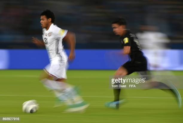 Romarinho of Al Jazira in action during the FIFA Club World Cup UAE 2017 third place match between Al Jazira and CF Pachuca at Zayed Sports City...