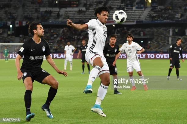 Romarinho of Al Jazira in action during the FIFA Club World Cup UAE 2017 third place play off match between Al Jazira and CF Pachuca at the Zayed...