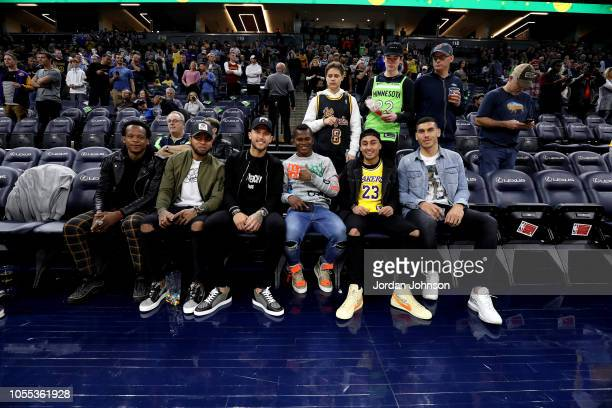 Romario Ilbarra Alexi Gomez Francisco Calvo Darwin Quintero Miguel Ibarra and Michael Boxall of the Minnesota United FC are seen at the game between...