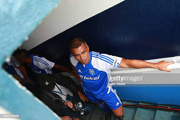 Romario of team of Messi during a match Messi and Friends friendly game at Azul Stadium on July 31 2011 in Mexico City Mexico