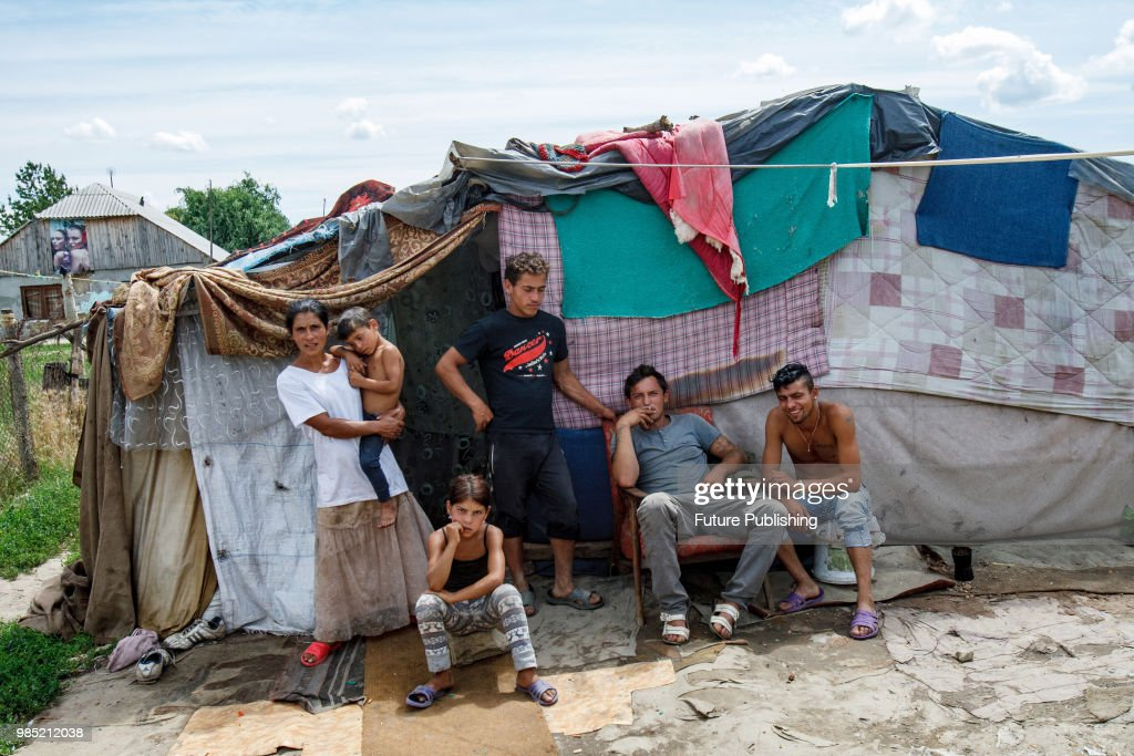Romas also known as gypsies stay outside their tent set up in a c& in Barkasovo & 60 Top Gypsy Tent Pictures Photos u0026 Images |