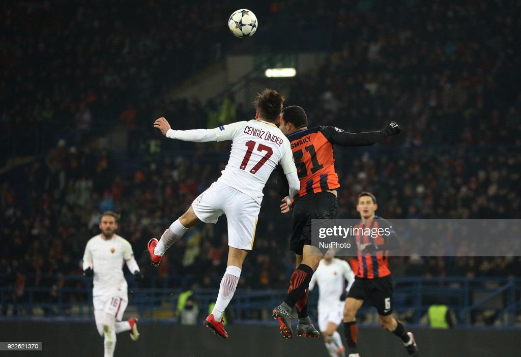 Shakhtar Donetsk v AS Roma - UEFA Champions League Round of 16: First Leg : Nachrichtenfoto