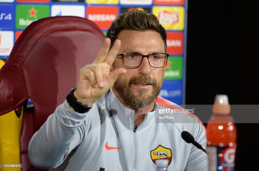 Alessandro Florenzi Press Conference : News Photo