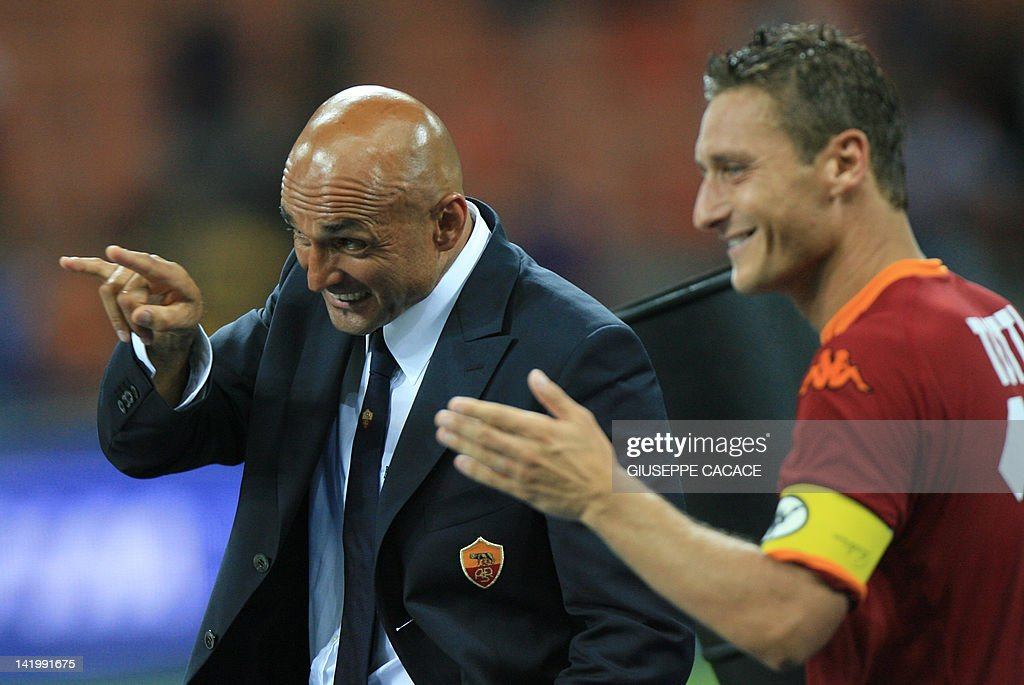Image result for Luciano SPalletti and Totti