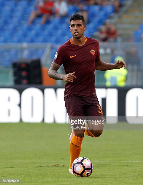 Roma's Emerson Palmieri in action during the Italian Serie A football match between Roma and Udinese at the Olympic stadium Roma won 40