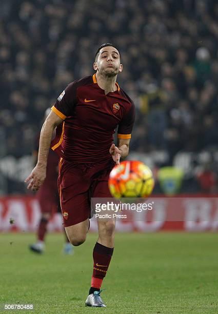 RomaÕs Kostas Manolas runs for the ball during the Italian Serie A football match between Juventus and Roma at Juventus Stadium Juventus beats Roma...