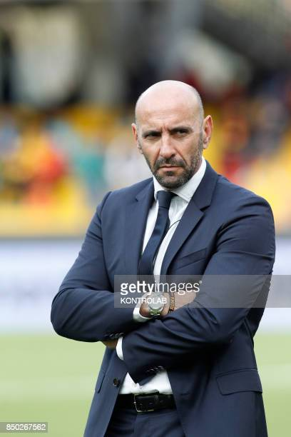 Roma's manager Monchi looks on during the Italian Serie A football match Benevento Calcio vs AS Roma at the Ciro Vigorito Stadium