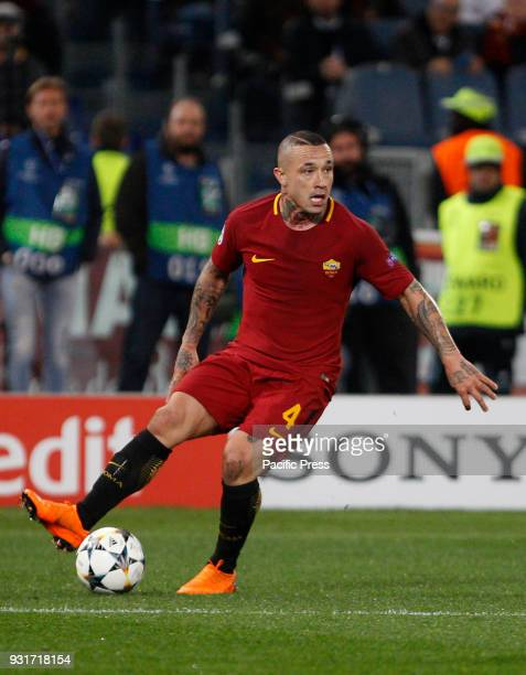 Roma's Radja Nainggolan in action during the Uefa Champions League round of 16 second leg soccer match between Roma and Shakhtar Donetsk at the...