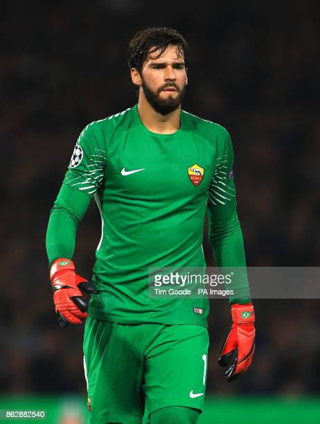 Roma's Ramses Alisson during the UEFA Champions League Group C match at Stamford Bridge London