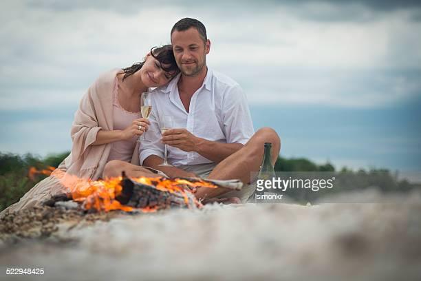 Romatic Couple On The Beach