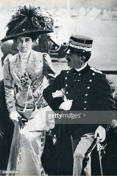 Rome 1919 King of Italy Victor Emmanuel III and his wife the Queen Elena of Montenegro Vittorio Emanuele III was a member of the House of Savoy and...