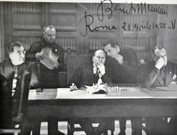 Rome 21 April 1927 Meeting of the Grand Council which was passed 'The Charter of Labour'