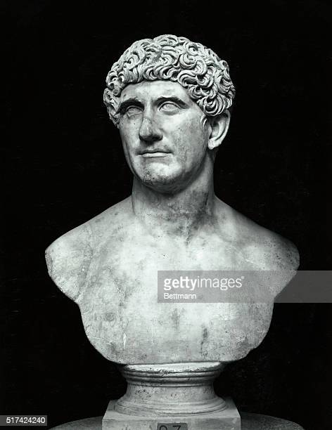 Bust of Marc Anthony in the Museum of the Vatican Undated photograph