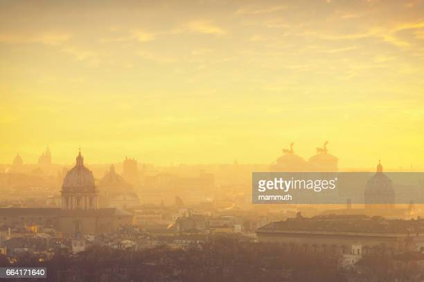 Rome cityscape at sunrise
