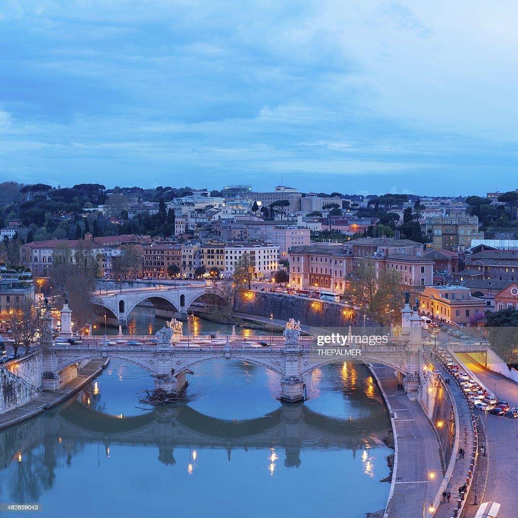 Rome cityscape at twilight : Stock Photo