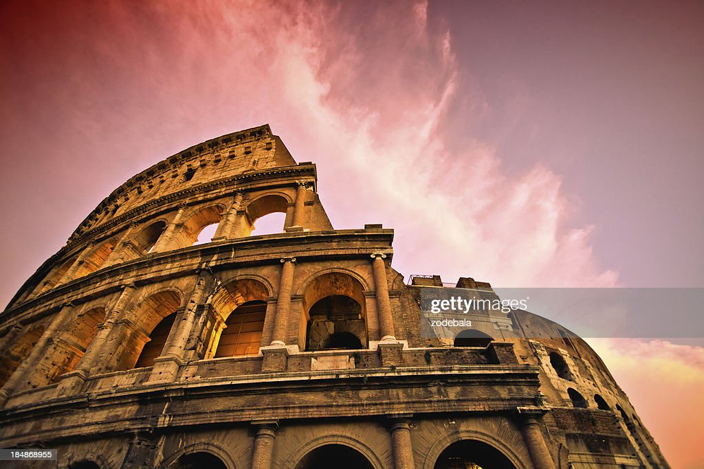Rome Coliseum at Sunset : Stock Photo