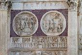 Rome, detail of Arc de Triomphe, Italy