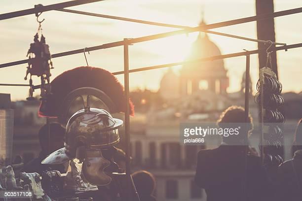rome dôme de pincio hill - gladiateur photos et images de collection