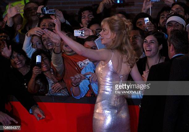 Rome first film festival Actress Nicole Kidman at the premiere of her movie 'Fur' directed by Steven Shainberg Based on the book Diane Arbus A...