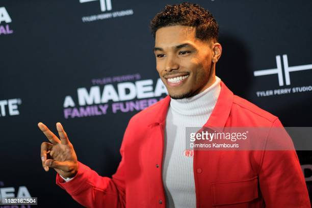 Rome Flynn attends a screening for Tyler Perry's A Madea Family Funeral at SVA Theater on February 25 2019 in New York City