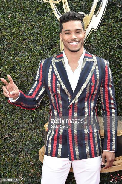 Rome Flynn attends the 2018 Daytime Emmy Awards Arrivals at Pasadena Civic Auditorium on April 29 2018 in Pasadena California