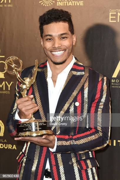 Rome Flynn attends the 2018 Daytime Emmy Awards Press Room at Pasadena Civic Auditorium on April 29 2018 in Pasadena California
