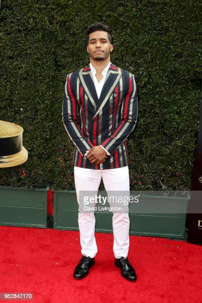 Rome Flynn attends the 45th annual Daytime Emmy Awards at Pasadena Civic Auditorium on April 29 2018 in Pasadena California