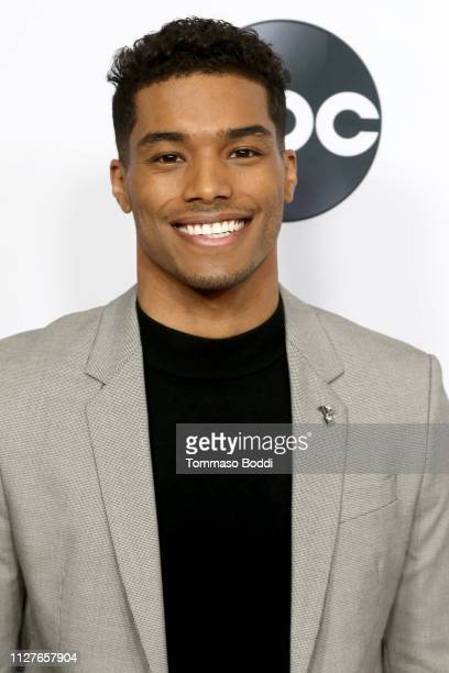Rome Flynn attends the Disney ABC Television Hosts TCA Winter Press Tour 2019 at The Langham Huntington Hotel and Spa on February 05 2019 in Pasadena...