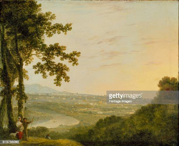 Rome from the Villa Madama, during or post 1753. Artist Richard Wilson.