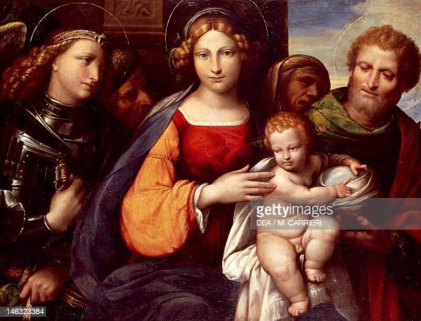 Rome Galleria Borghese The Virgin with Child and Saints Michael and Joseph 15301532 by Benvenuto Garofalo oil on panel 62x82 cm