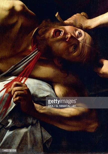 Rome Galleria Nazionale D'Arte Antica Di Palazzo Barberini The beheading of Holofernes detail from Judith and Holofernes by Michelangelo Merisi da...