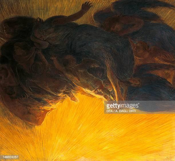 Rome, Galleria Nazionale D'Arte Moderna The creation of light by Gaetano Previati , oil on canvas, 199x215 cm.