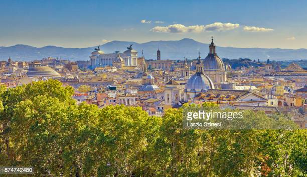 Rome is seen at the Castel Sant'Angelo on November 1 2017 in Rome Italy Rome is one of the most popular tourist destinations in the World