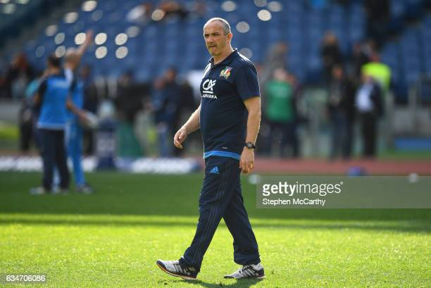 Rome Italy 11 February 2017 Italy head coach Conor O'Shea before the RBS Six Nations Rugby Championship match between Italy and Ireland at the Stadio...